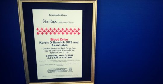 Summer Blood Drive at Karen Barwick DDS and Associates